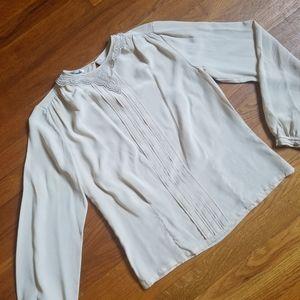 *Vintage* Paul Alexander 100% silk collared blouse